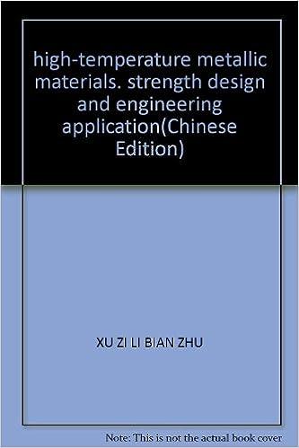 high-temperature metallic materials, strength design and