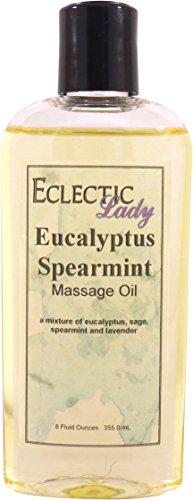 Eclectic Lady Eucalyptus Spearmint Massage Oil, 8 oz