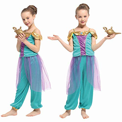 Genie Girl's Costume - 2-Piece Set - Fun for Costume Party or Dress-Up - Very Cute - Teal, Purple & Gold - Size Extra Large