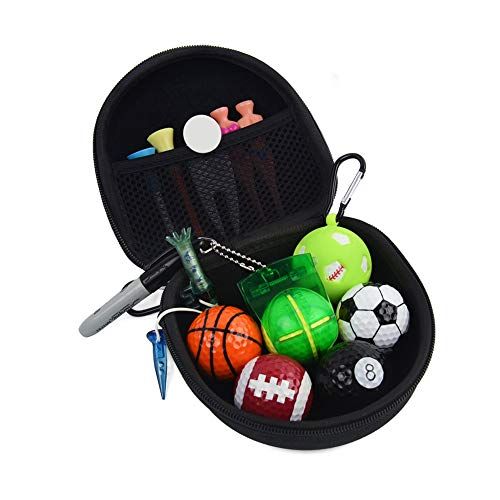- letsgood Golfer's Golf Gift Set - Include Golf Balls, Divot Tool Repair, Ball Marker, Ball Tees, Club Groove Cleaner, Golf Pouch - Golfing Accessories Gift for Men Women