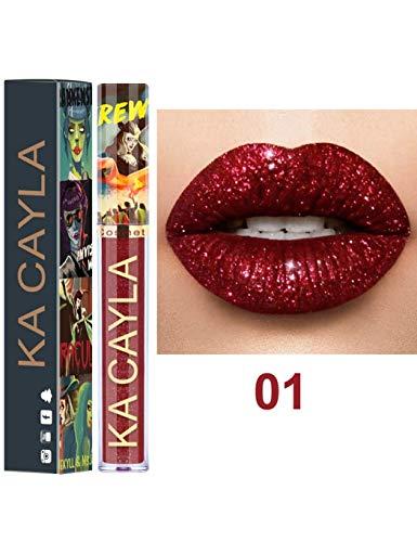 Glitter Shimmer Metallic Matte Velvet Liquid Lipstick Glossy Lipgloss Lip Cream