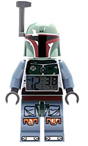 LEGO Star Wars 9003530 Boba Fett Kids Minifigure Light Up Alarm Clock | green/blue | plastic | 9.5 inches tall | LCD display | boy girl | official