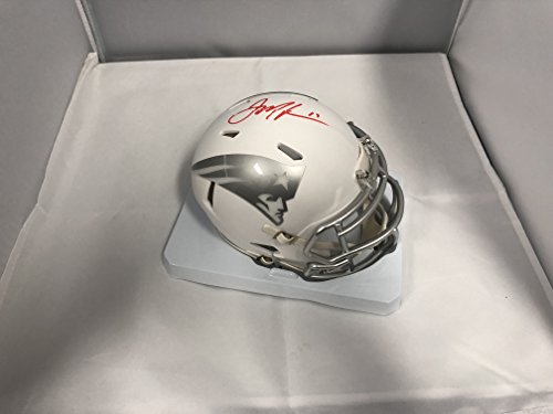 Julian Edelman Autographed Signed New England Patriots RARE ICE Speed Mini Helmet Certified With COA & Hologram (Signed Helmet)