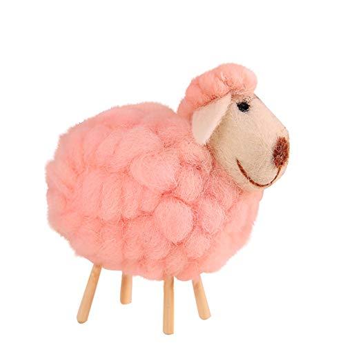 Euone  Xmas Ornament Clearance , Cartoon Felt Sheep Xmas Tree Pendant Hanging Home Ornament Decoration (Pink)]()