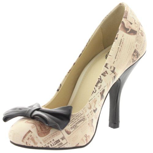 T.U.K. - Zapatos de vestir de material sintético para mujer beige beige marfil - beige