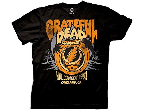 Ripple Junction Grateful Dead Halloween Pumpkin Adult T-Shirt Large Black -