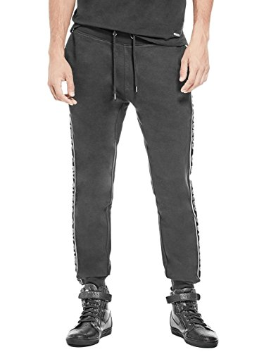 G by GUESS Men's Clams Logo Tape Sweatpants