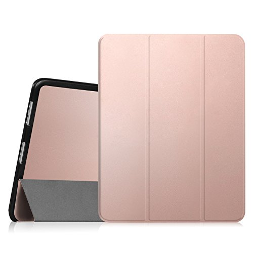 Fintie iPad 1 Case - Slim Lightweight PU Leather Stand Case Cover for Apple iPad 1 1st Generation, Rose Gold