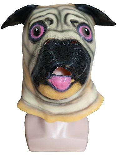 Shar Pei Dog Halloween Carnival Masquerade Party Cosplay Latex Head Mask]()