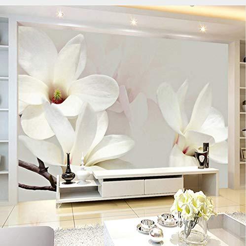 Lifme Custom Photo Mural Wallpaper Modern Fashion Lily Flower 3D White Magnolia Flower Wall Painting Living Room Wall Murals Wallpaper-350X250Cm
