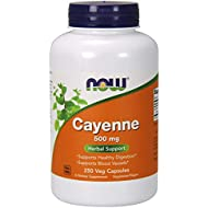 NOW Supplements, Cayenne (Capsicum annuum)500 mg, 250 Capsules