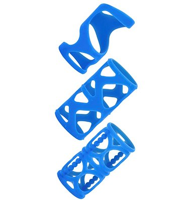 California Exotic Novelties Posh Silicone Lover's Cage - Blue