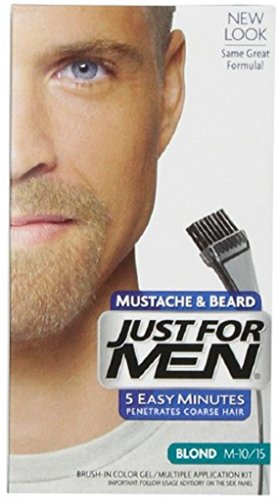 JUST FOR MEN Brush-In Color Gel for Mustache & Beard, Blond M-10/15 1 Each (Pack of 5)