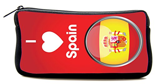 Pencil pouch I LOVE Spain Pencil Case by BlueBerry Design