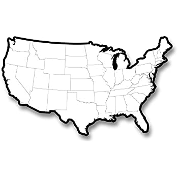 Amazoncom ChenilleKraft Large USA Map Whiteboard CKC9873 - Dry Erase Blank Us Map