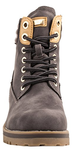 Elara | Womens Boots Grip Sole Shoes | Worker Boots Lined Warm Chunkyrayan Grau London 0zP7fqgA5y