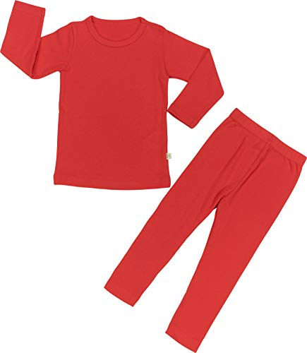 Baby Boys Girls Pajama Set 6M-8T Kids Toddler Snug fit Cotton Sleepwear (Red-2 JS(120)/5T-6T)