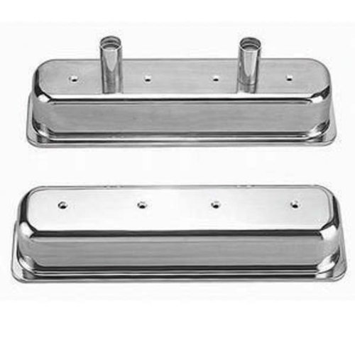 Racing Power Company R6150 Tall Aluminum Circle Track Center Bolt Valve Cover with Tubes for Small Block - Circle Valve Covers Track