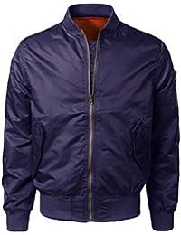 Men's Jacket, Misaky Fashion 2017 Fall-Winter Solid Slim Bomber Zipper Outwear