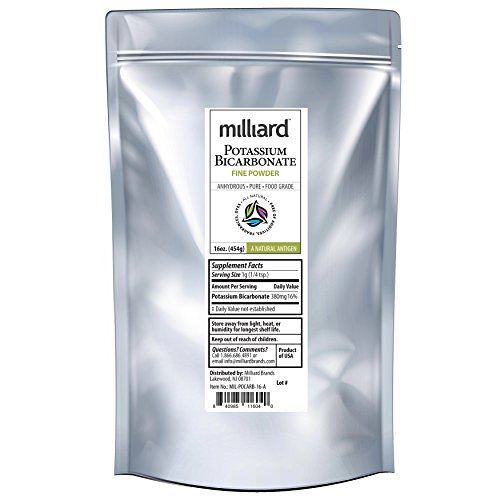 Price comparison product image Milliard Potassium Bicarbonate Food Grade Powder Bulk - 16 oz (1 Pound)