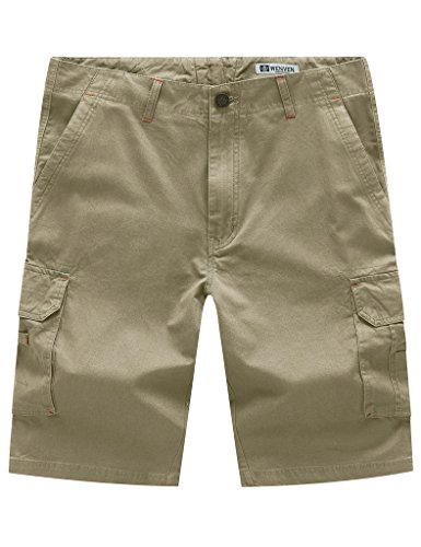 WenVen Men's Big & Tall Multi Pocket Cargo Shorts