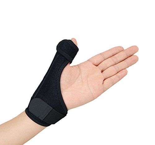 (Gelible Thumb& Wrist Support Brace -Removable Splint for Reliable Support, Thumb Spica stabilizer for Arthritis Tendonitis Sprained Thumb Symptoms, One Size for Both Hands, Black)