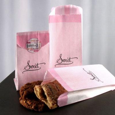Diseño a rayas bolsas de papel para tus Candy Bar, pink, 50 ...