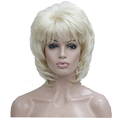 Lydell Short Blonde Layered Shaggy Full Synthetic Wig -