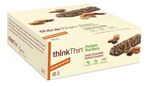 Think Thin Dark Chocolate Salted Caramel 10 pieaces 40 g bars