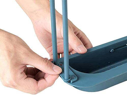RYNX Telescopic Sink Holder, Adjustable Drainer Sink Tray Sponge Soap Holder, Sink Organizer Holder Dish Cloth Hanger for Home Kitchen (Gray)