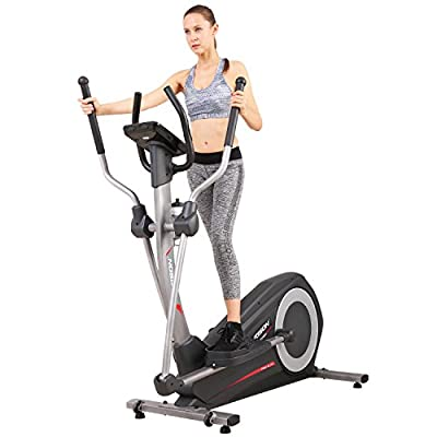 HARISON Elliptical Trainer with Handle,Elliptical Machines for Home Use, Exercise Magnetic Bike with LCD Monitor and Pulse Rate Grips Exercise Cardio Trainer Workout Home Gym,Cross Trainer E1160APP