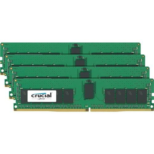 Crucial Technology 64GB (4x 16GB) 2400MHz 288-Pin DDR4 RDIMM (PC4-19200) Memory Kit, CL17, Registered, 1024M x 8, Dual Rank, ECC, 1.2V -