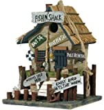 Fishing Shack Birdhouse with Signs (Very Detailed)(Hand-Made of Wood) 10.5""