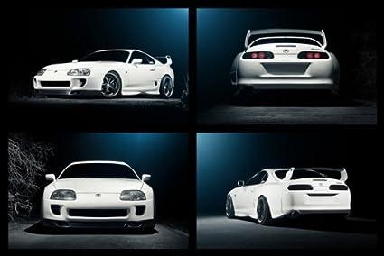 98fefe1d3c94 Amazon.com  Toyota TT Supra MKIV 2JZ-GTE JZA80 WORK Wheels Collage ...