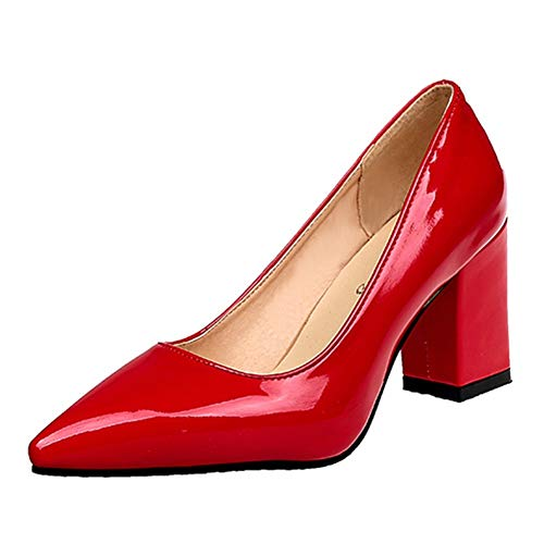 Croc Black Patent (Women Patent Leather Low Heels Pointy Toe Comfortable Shoes for Party and Office by Lowprofile Red)