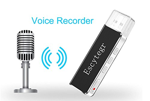 (Escytegr Mini Voice Recorder Digital Sound Audio Recorder 8GB USB Flash Driver MP3 Player Dictaphone with Earphone,No Flashing Light When Recording,Record Device for)