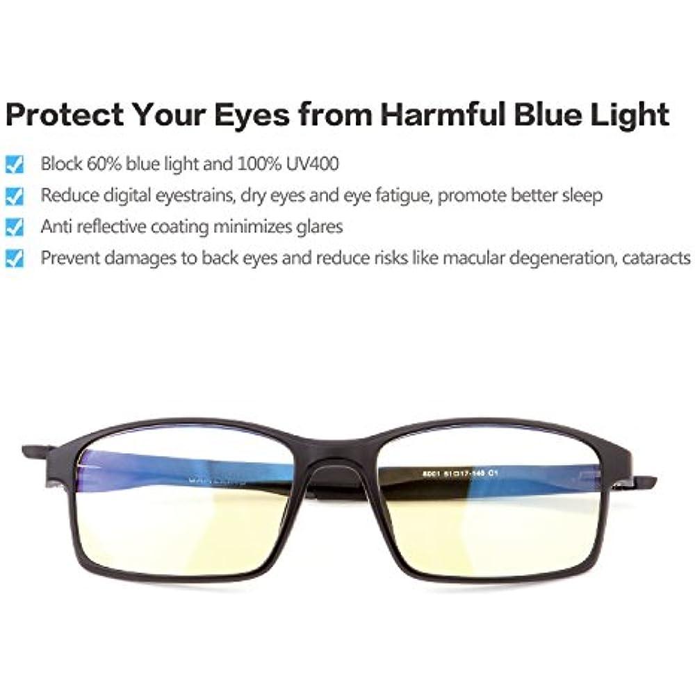 e3e082392353 GAMEKING Ultra 8001 Blue Light Blocking Computer Glasses Gaming Glasses  Stylish Lightweight Amber Tint Lens Relieve Eye Strains Eye Fatigue Dry  Eyes ...