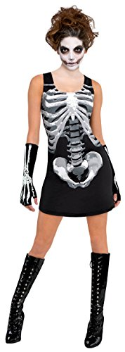 Amscan 844974 Adult Black & Bone Skeleton Tank Dress, Standard