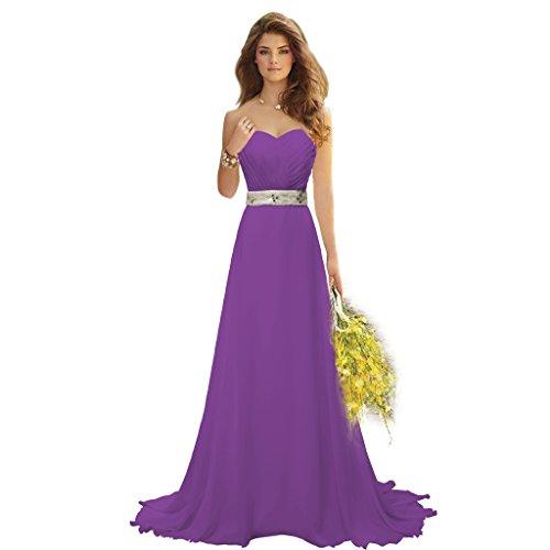 reg; Party Grape Belt Chiffon Beaded Bridal Dresses Gown Wedding Aurora Bridesmaid Y8wv5Iwx
