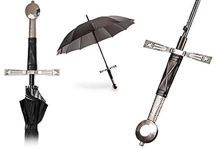WoW STORE Paraguas en Forma de Espada - Excalibrella - Negro y Plata: Amazon.es: Equipaje