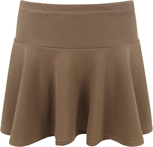 lastique court 42 Jupes extensible plaine jupe Mini WearAll Femmes Tailles vase Moka 36 Rara Femmes qEatyawO