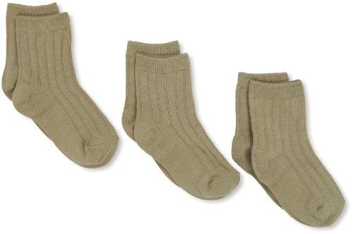 (Jefferies Socks Little Boys'  Rib Crew Socks  (Pack of 3), Khaki, Toddler)
