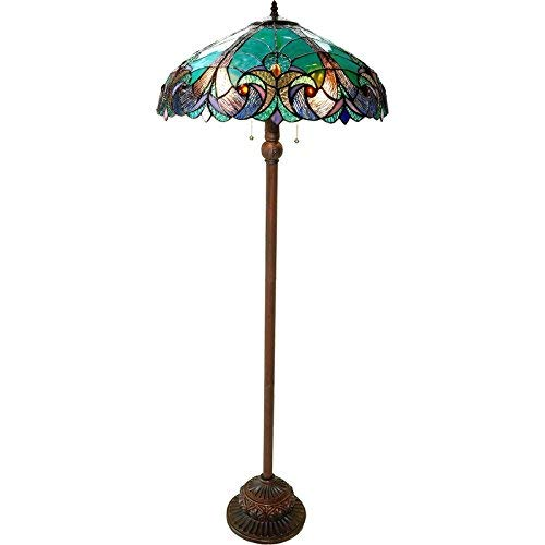 "Chloe Lighting CH18780VG18-FL2 ""LIAISON"" Tiffany-Style Victo"