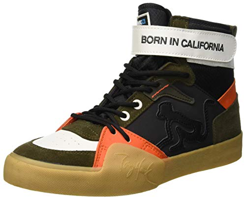 Birdman Black A Green orange Uomo Th015 Drunknmunky Multicolore Alto Dk Sneaker Collo dEWpvq