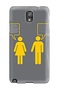 High-end Case Cover Protector For Galaxy Note 3(funny He And She )