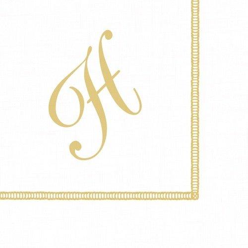 Entertaining with Caspari Monogram Initial H Paper Cocktail Napkins, Pack of 20