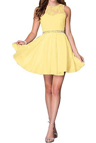 amarillo Vestido Topkleider trapecio mujer para xA8qC8a0