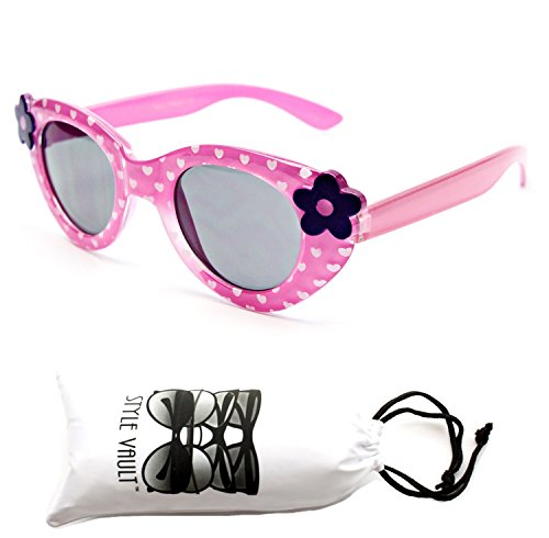 Kd209-vp Style Vault Kids 2-8yr Shape Sunglasses (8108 Pink, - Old Sunglasses 6 Month
