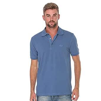 Cottonil Blue Cotton Shirt Neck Polo For Men