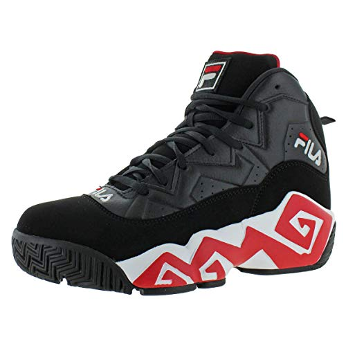 Fila Men's MB Leather Retro Basketball Trainers Shoes Sneakers Black Size 11